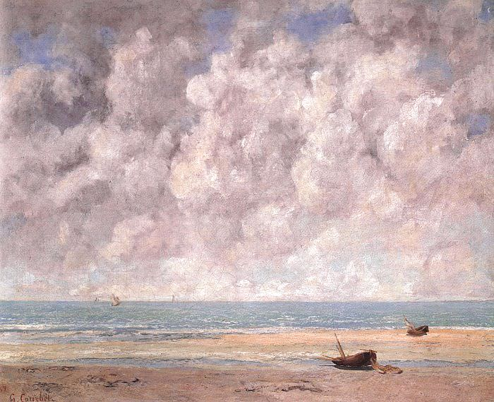 Спокойное море, 1869. Гюстав Курбе