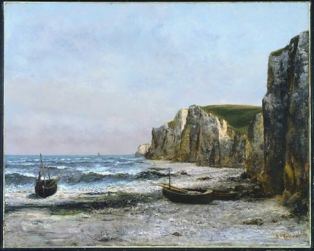 The cliffs at Etreat, 1866, 90.9 x 113.3 cm, NG of C. Gustave Courbet