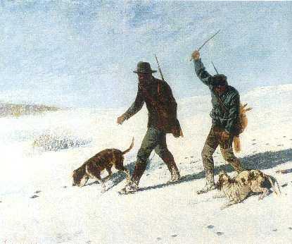 bracconieri sulla neve. Gustave Courbet
