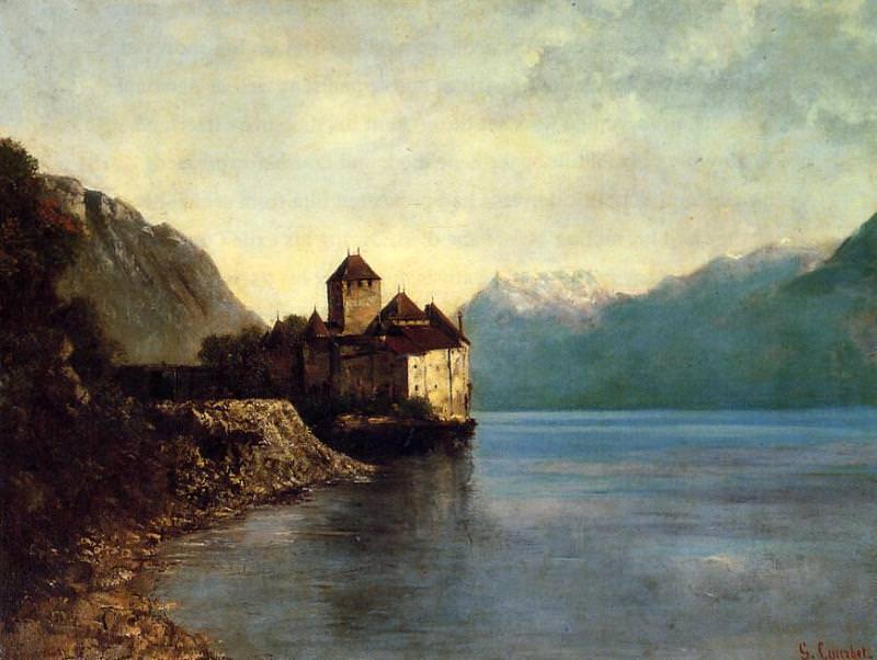 Chateau du Chillon. Gustave Courbet