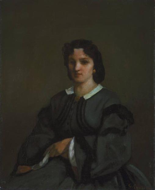 Женщина с перчатками, 1858. Гюстав Курбе