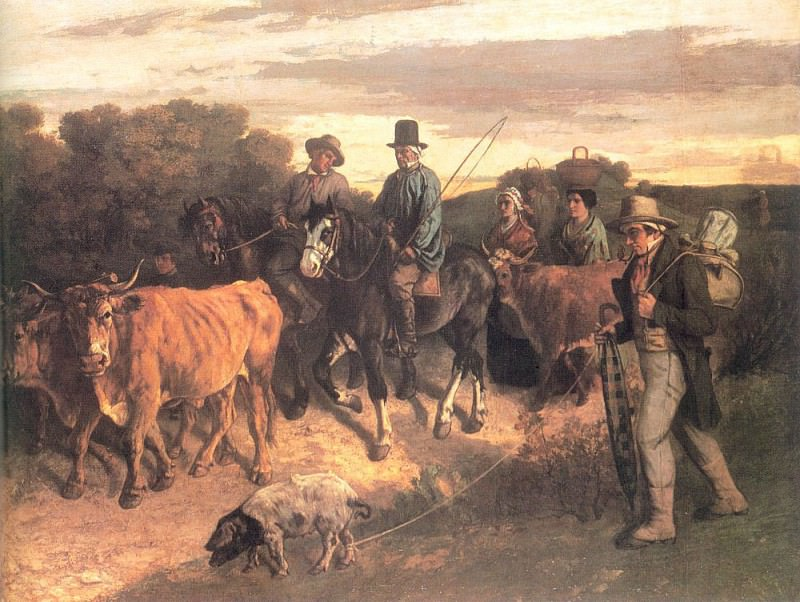 The Peasants of Flagey Returning from the Fair Ornans. Gustave Courbet
