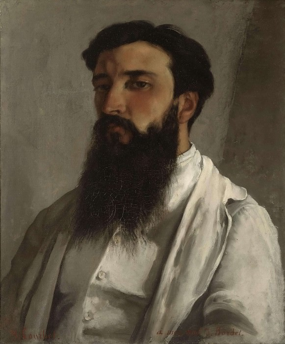 Portrait of Jules Bordet. Gustave Courbet