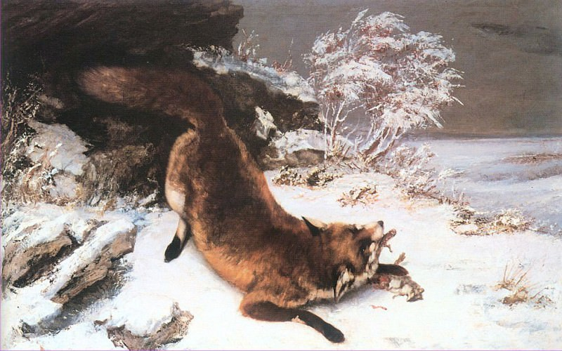 The Fox in the Snow. Gustave Courbet