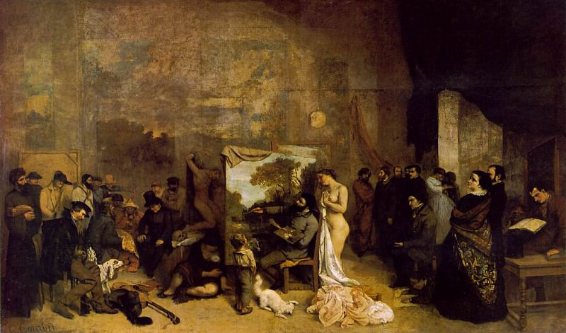 The Painters Studio A Real Allegory 1855 361x598 M. Gustave Courbet