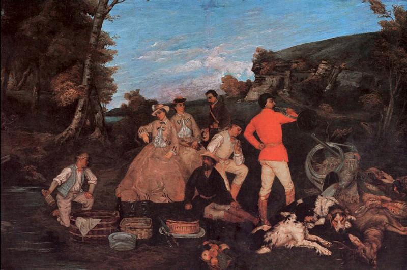 Petit dejeuner de chasse. Gustave Courbet