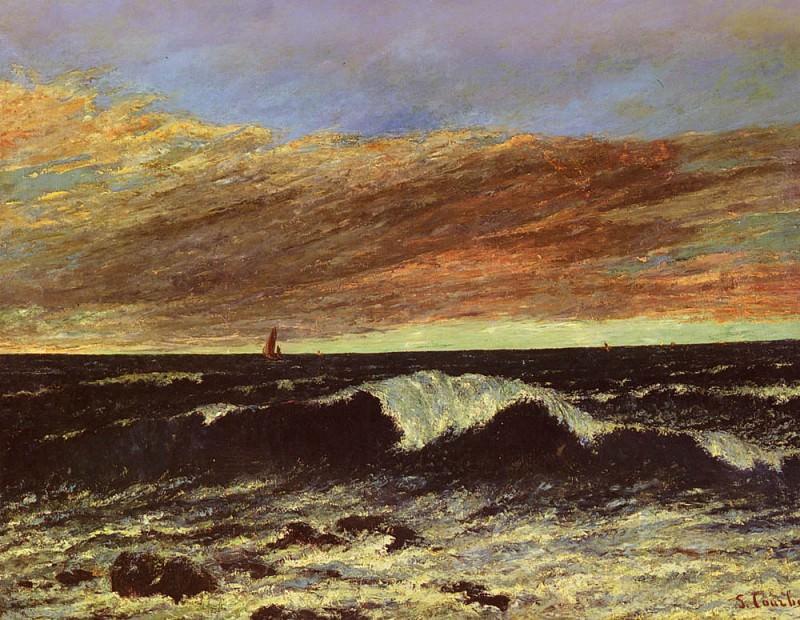La Vague. Gustave Courbet
