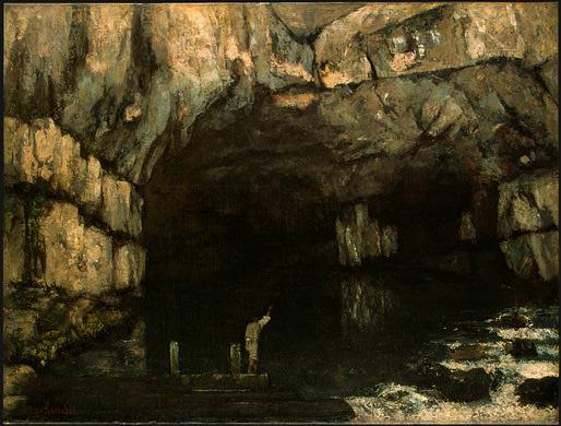 La Grotte de la Loue (1864). Gustave Courbet