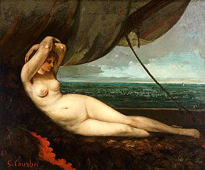 Nude Reclining by the Sea. Gustave Courbet