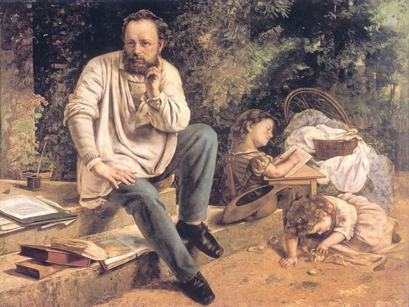Портрет П.Ж.Прюдона в 1853 г.. Гюстав Курбе