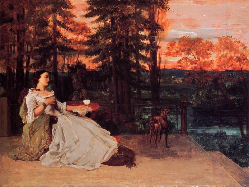 The Lady of Frankfurt Gustave Courbet 1858. Gustave Courbet