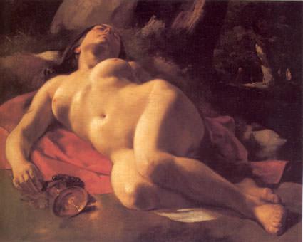 La Baccante. Gustave Courbet