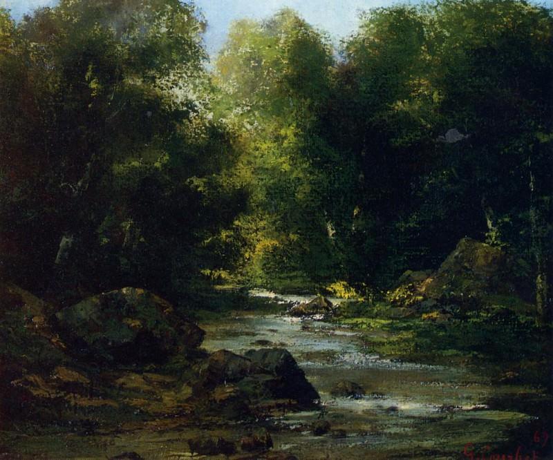 River Landscape. Gustave Courbet