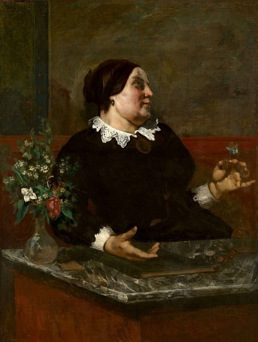 La Mere Gregoire, 1855-59, The Art Institute of Chic. Gustave Courbet
