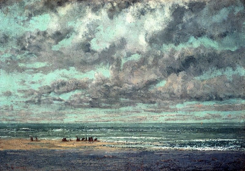 Marine Les Equilleurs. Gustave Courbet