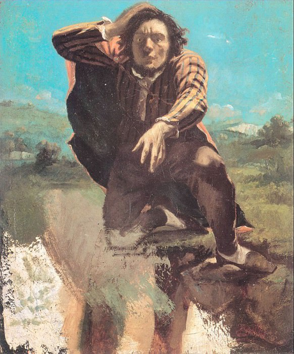 The Desperate Man The Man Made by Fear. Gustave Courbet