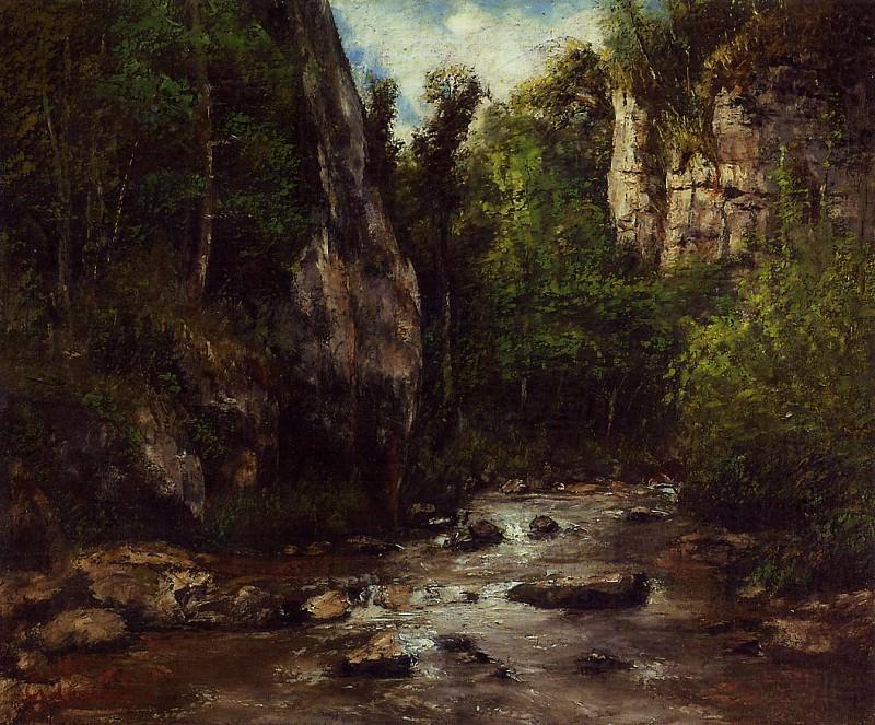 Landscape near Puit Noir near Ornans. Gustave Courbet