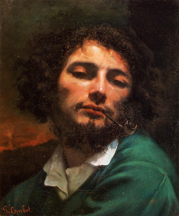 Portrait of the Artist aka Man with a Pipe. Gustave Courbet