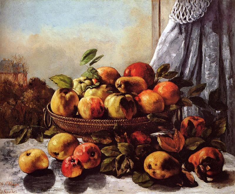 Натюрморт с фруктами. Гюстав Курбе