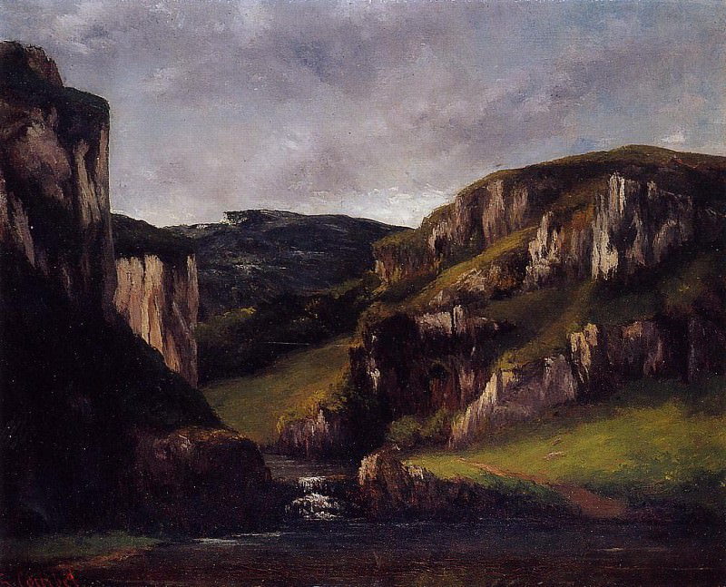 Скалы близ Орнана. Гюстав Курбе