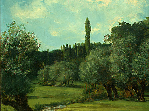 La Bretonnerie in the Department of Indre, 1856. Gustave Courbet