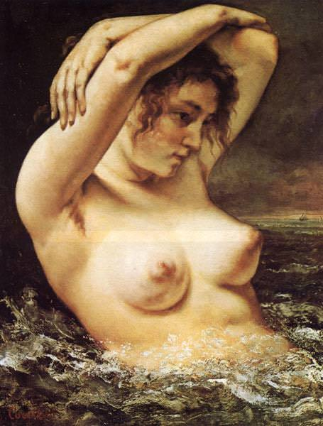 Woman in the Waves (1868). Gustave Courbet