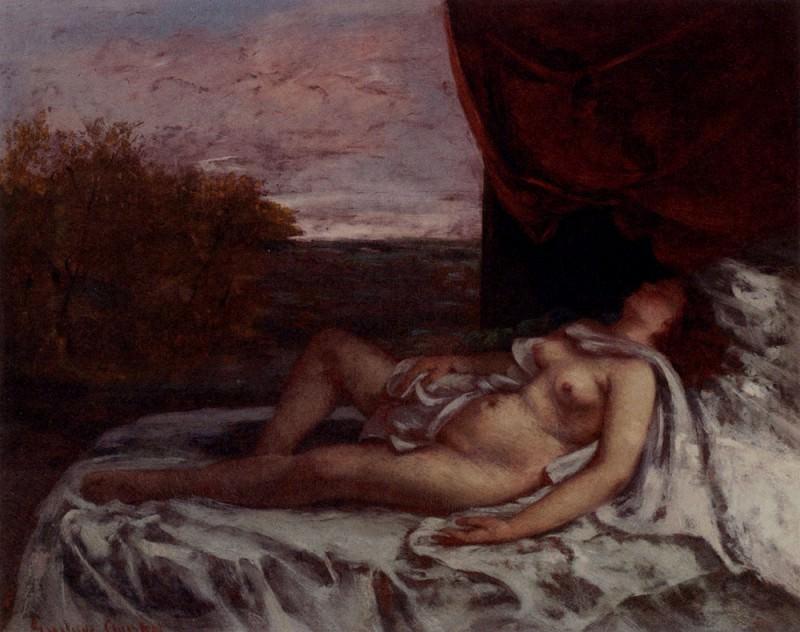 Femme Nue Endormie. Gustave Courbet