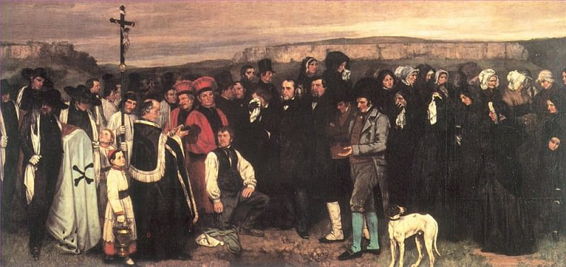 A Burial at Ornans. Gustave Courbet