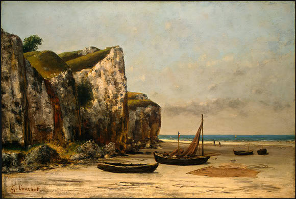 Beach in Normandy, 1872-1875, NG Washington. Gustave Courbet