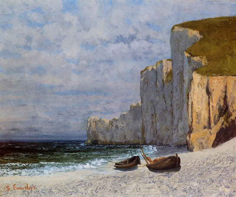 A Bay with Cliffs. Gustave Courbet
