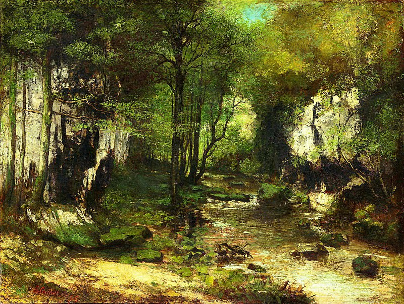 The Stream of the Puits-Noirs, Valley of the Loue, 1855. Gustave Courbet