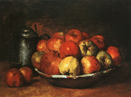 Still Life with Apples and Pomegranates, The Nationa. Gustave Courbet
