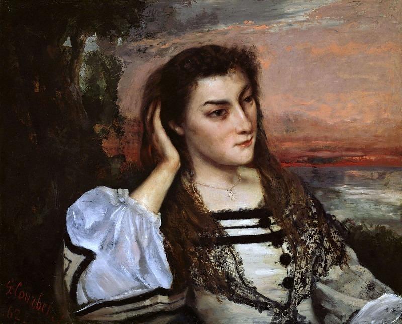 Портрет Габриэллы Борро (Мечтательница), 1862. Гюстав Курбе