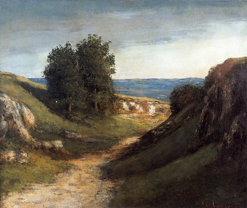 Paysage Guyere. Gustave Courbet