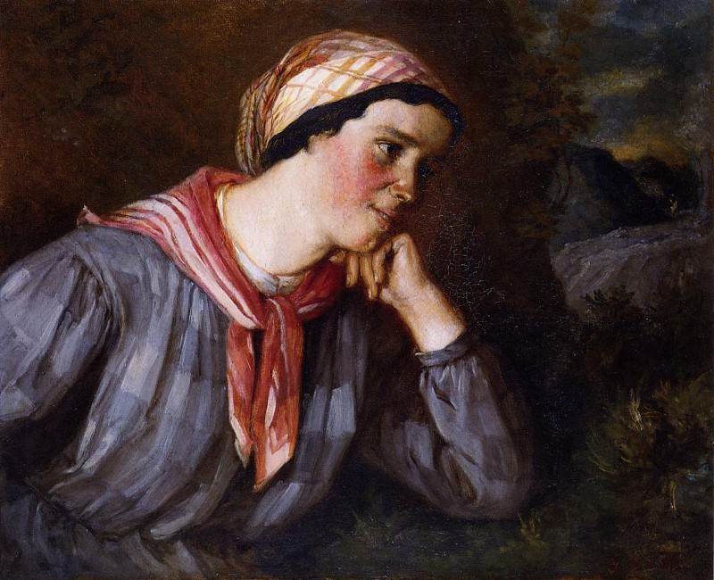 Peasant Wearing Madras. Gustave Courbet
