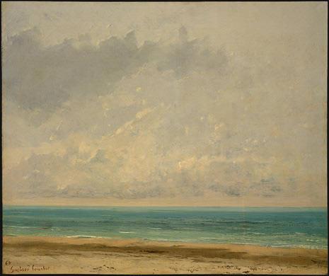 Calm Sea, 1866, NG Washington. Gustave Courbet
