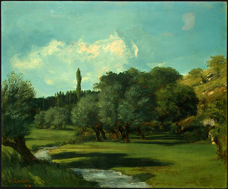 La Bretonnerie in the Department of Indre, 1856, NG. Gustave Courbet