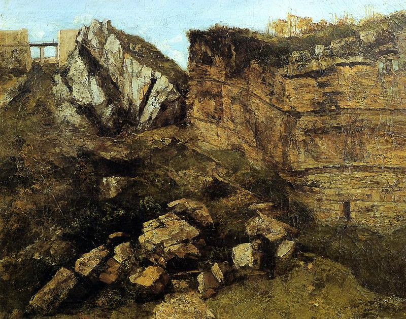 Crumbling Rocks. Gustave Courbet