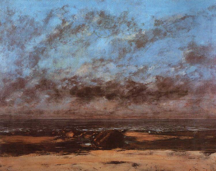 Низкий прилив как безмерность моря, 1865. Гюстав Курбе