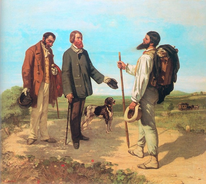 The Meeting Bonjour Monsieur Courbet. Gustave Courbet