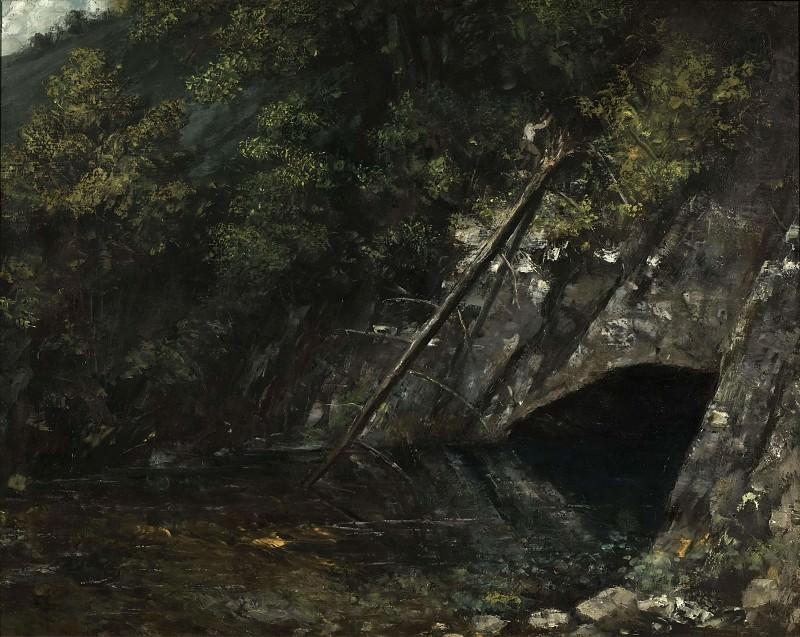 Landscape from La Source Bleue. Gustave Courbet