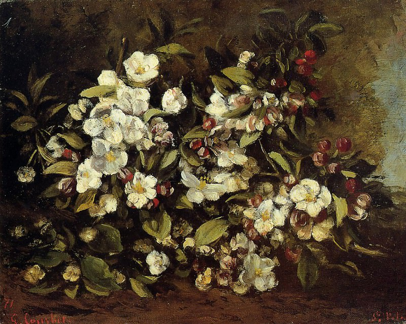 Flowering Apple Tree Branch. Gustave Courbet