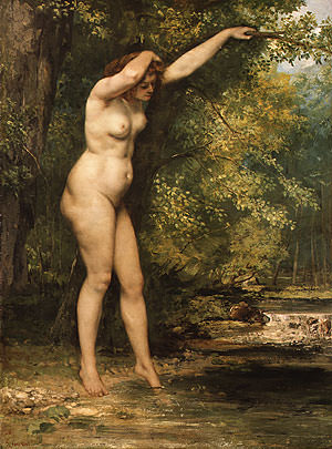 The Young Bather. Gustave Courbet
