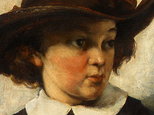 Portrait of a Young Girl, 1857, Detalj 2, NG Washing. Gustave Courbet