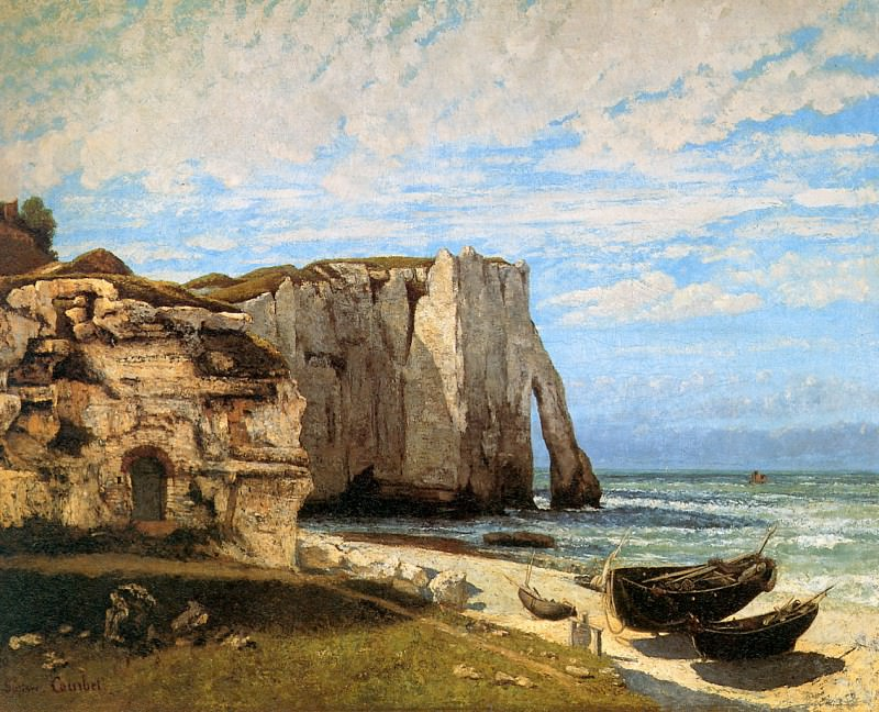 The rock of Etretat. Gustave Courbet