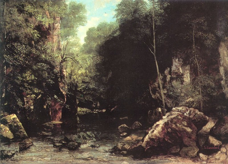 The Shaded Stream The Stream of the Puits Noir. Gustave Courbet