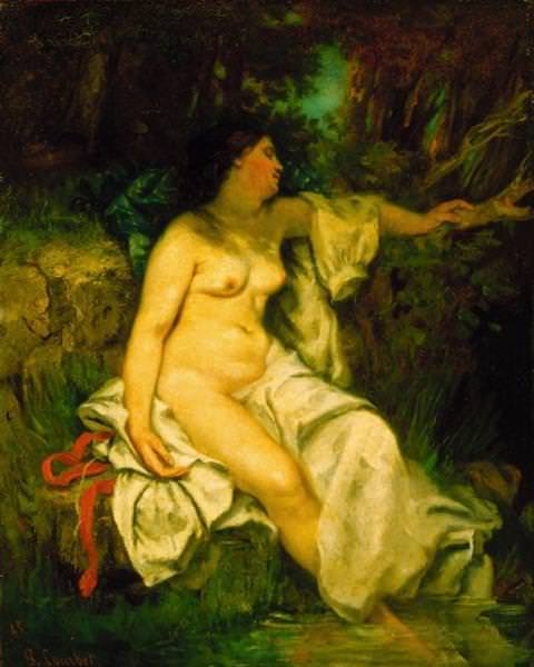 Bather Sleeping by a Brook. Gustave Courbet