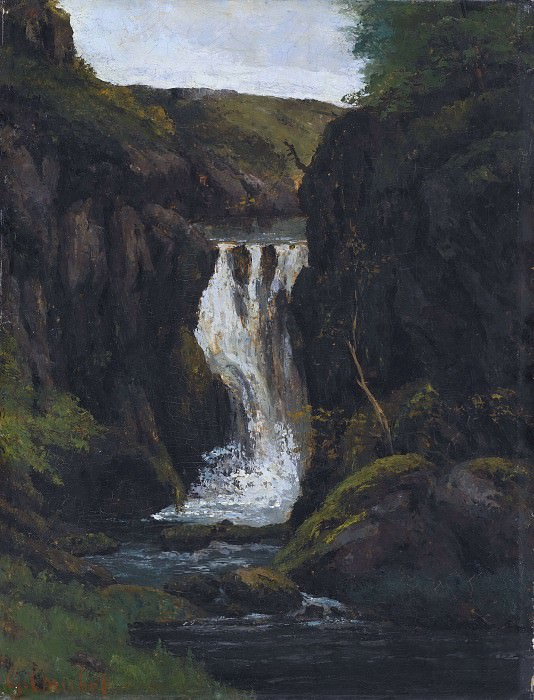 The Cascade. Gustave Courbet