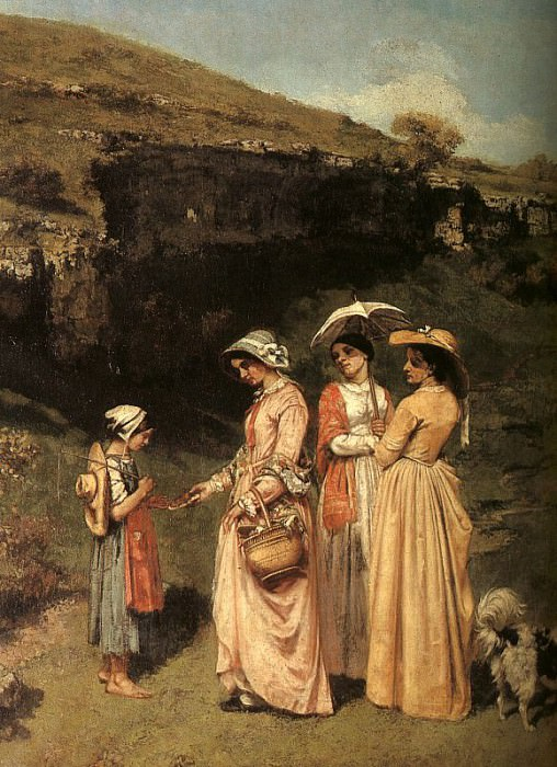 The Ladies of the Village Giving Alms to a Cowherd i. Gustave Courbet
