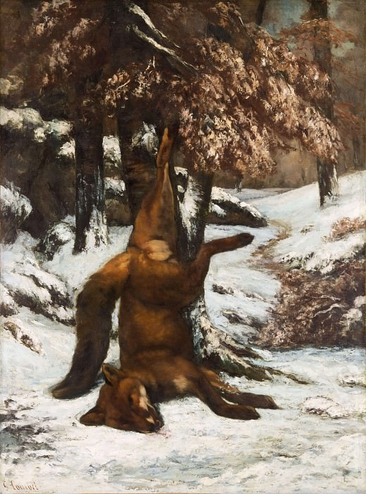 The Dead Fox. Gustave Courbet